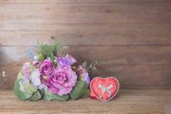 Vintage rose bouquet Stock Photo