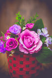 Vintage rose bouquet Stock Image
