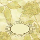 Vintage rose floral card (not auto-traced). EPS 8 Royalty Free Stock Photos
