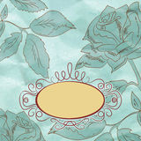 Vintage rose floral card (not auto-traced). EPS 8 Stock Photos