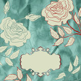 Vintage rose floral card (not auto-traced). EPS 8 Royalty Free Stock Image
