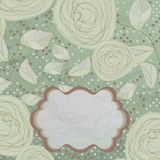 Vintage rose floral card (not auto-traced). EPS 8 Stock Photography