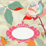 Vintage rose floral card (not auto-traced). EPS 8. Vector file included Royalty Free Stock Photo