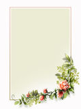 Vintage rose frame background Royalty Free Stock Images