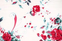Vintage rose paint on fabric background Stock Image