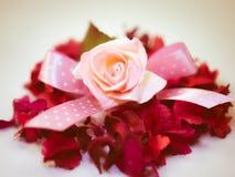 Vintage rose paper. Vintage background with rose paper Stock Images