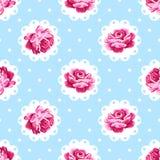 Vintage Rose Pattern Foto de Stock Royalty Free