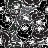 Vintage rose pattern black. Vintage roses seamless pattern in black Royalty Free Stock Photo
