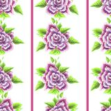 Vintage Rose Pattern inconsútil Fotos de archivo libres de regalías