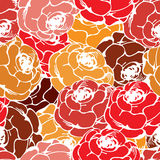 Vintage rose pattern. Vintage rose seamless pattern for your design Stock Photo