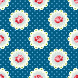Vintage rose pattern. Royalty Free Stock Images