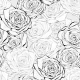 Vintage rose seamless  pattern Royalty Free Stock Photography