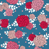 Vintage rose seamless pattern background Stock Photos