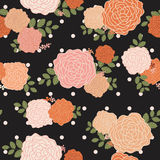 Vintage rose seamless pattern background Stock Images