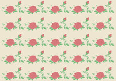 Vintage rose seamless vector pattern background. Stock Photos