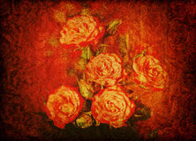 Vintage rose texture Stock Photography