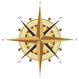 Vintage rose wind compass stock images