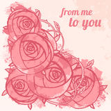 Vintage Roses Background Stock Image