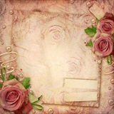 Vintage Roses Background Stock Photos