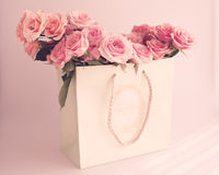 Vintage roses in a bag Royalty Free Stock Photo