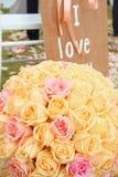 Vintage roses bouquet arrange for wedding  decoration Stock Image