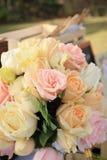 Vintage roses bouquet arrange for wedding  decoration Royalty Free Stock Images