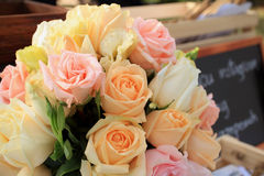 Vintage roses bouquet arrange for wedding  decoration Stock Photography
