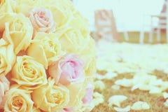 Vintage roses bouquet arrange for wedding Royalty Free Stock Photo