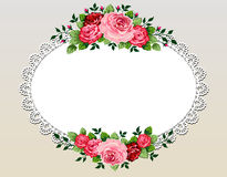 Vintage roses bouquet frame stock illustration