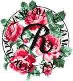 Vintage Roses bouquet. Vector artwork for girl t shirt stock illustration