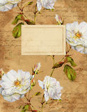 Vintage roses floral notebook cover Royalty Free Stock Photos