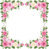 Vintage Roses Frame. Vector Illustration. Stock Photos