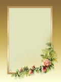 Vintage roses golden background Stock Image