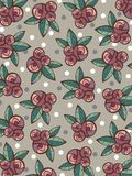 Vintage roses and leaves pattern vector illustration