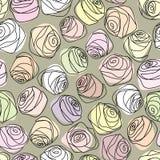 Vintage roses pattern Stock Photo