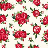 Vintage roses pattern Royalty Free Stock Photography