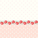 Vintage roses with polka dots Stock Photography