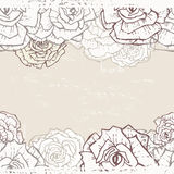 Vintage roses seamless banner Stock Photo