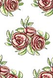 Vintage Roses Seamless Pattern Background Royalty Free Stock Photo