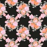 Vintage Roses Seamless Pattern Royalty Free Stock Photo