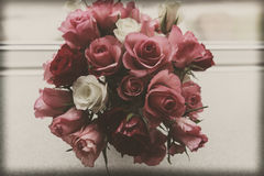 Vintage roses. Vintage stiled rose bouquet,beautiful rose,.sepia toned,vintage styled Royalty Free Stock Images