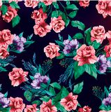Vintage roses seamless pattern Flowers Seamless Pattern Element Vector Background royalty free illustration