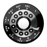 Vintage rotary dial Stock Photo