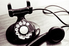 Vintage Rotary Dial Phone Stock Images