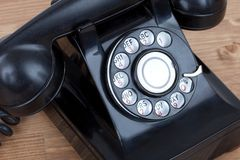 Vintage Rotary Dial Telephone Royalty Free Stock Photography