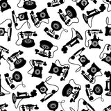 Vintage rotary dial telephones pattern Royalty Free Stock Photos