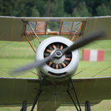 Vintage rotary engine. On a Sopwith Pup British fighter Stock Photo