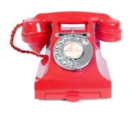 Vintage Rotary Red Telephone stock images
