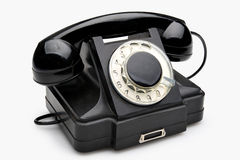 Vintage rotary telephone Stock Photos