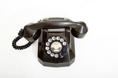 Vintage Rotary Telephone. Vintage black dial telephone from 1940 Royalty Free Stock Image